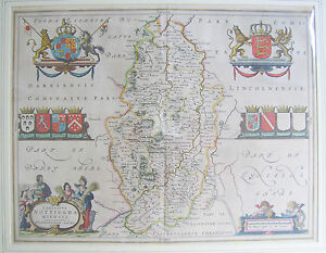 Nottinghamshire antique map by Johan Blaeu 164567 - Menston, West Yorkshire, United Kingdom - Nottinghamshire antique map by Johan Blaeu 164567 - Menston, West Yorkshire, United Kingdom