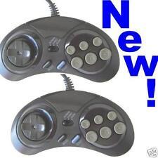 Par De 6 botón controladores para Sega Megadrive/Master sistema 2 Almohadillas De Control Nuevo