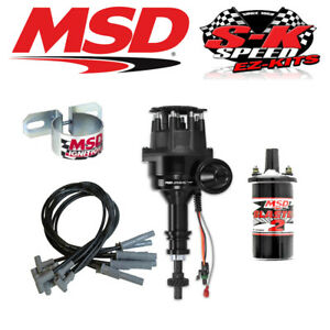 msd 99063 ignition kit ready to run distributor wires coil. Black Bedroom Furniture Sets. Home Design Ideas