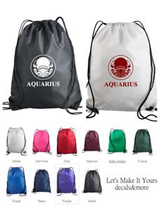AQUARIUS ZODIAC Tote Bag  Shopping Bag  Aquarius Girl  Aquarius Gift  Book Yoga Pilates Bag  January February Birthday Gift  18X18