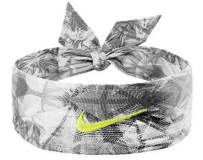 New Womens Nike Head Tie Skylar Diggins Headband Running Basketball Black / Volt
