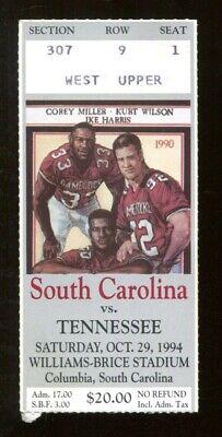 1994 Tennessee Vols v South Carolina Football Ticket 10/29 ...
