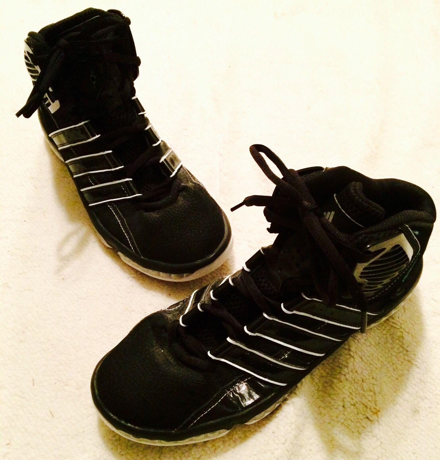 Adidas Mens Sz 10 White & Black MisterFly Pr Basketball Shoes Athletic Very Nice Casual wild