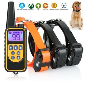 1ba6b8003b7e Dog Shock Collar With Remote Waterproof Electric for Large 880 Yard ...