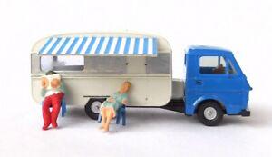 H0  1:87 Modell - Umbau / Gesupert - VW LT 1 - Camper mit Wohnwagen & Figuren
