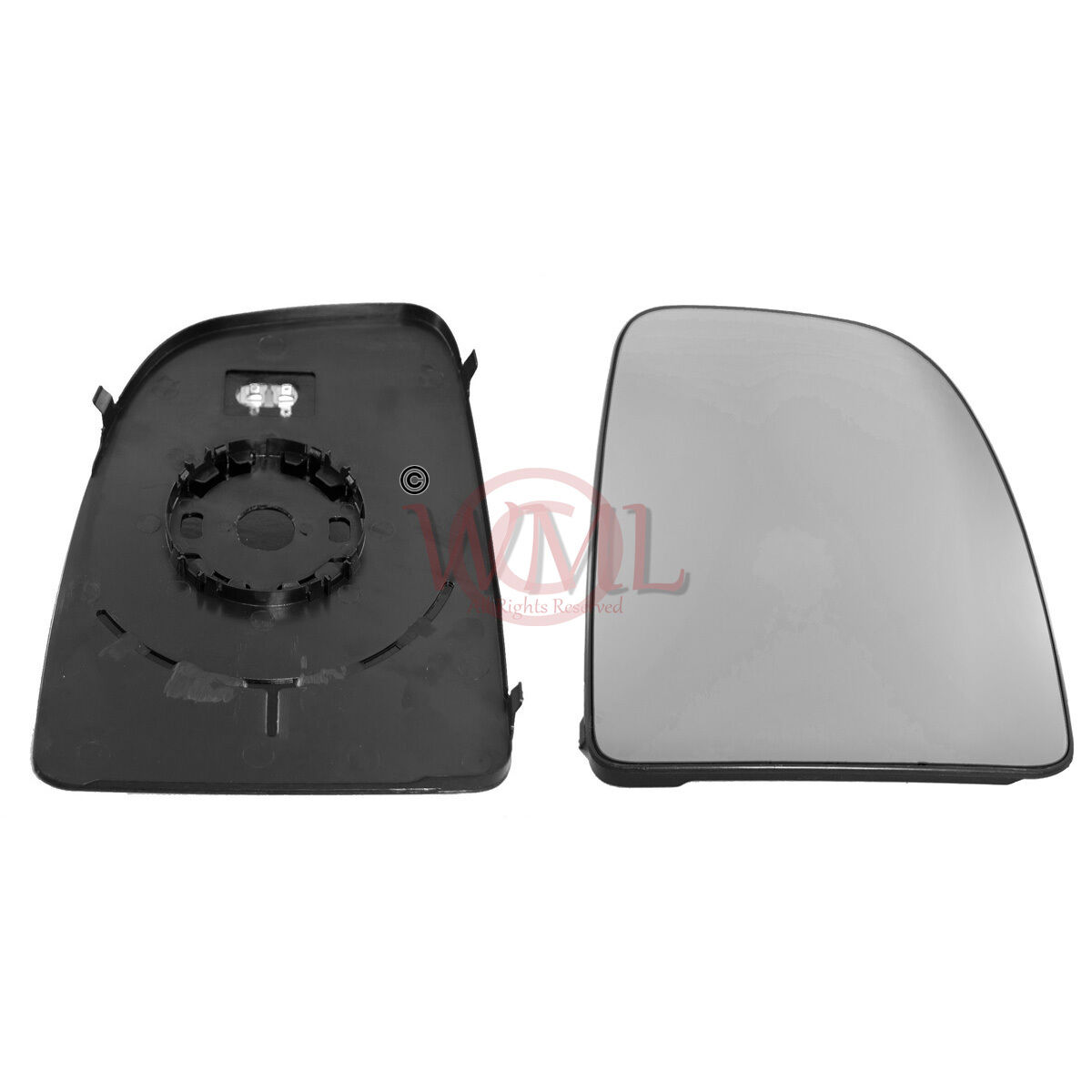 HEATED /& BASE,RIGHTSIDE PEUGEOT BOXER 2006-/>2019 BLIND SPOT MIRROR GLASS SILVER