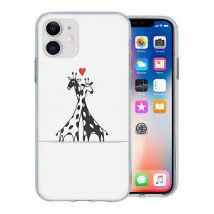 Pour-Apple-IPHONE-11-Silicone-Etui-Girafe-Amour-S2232