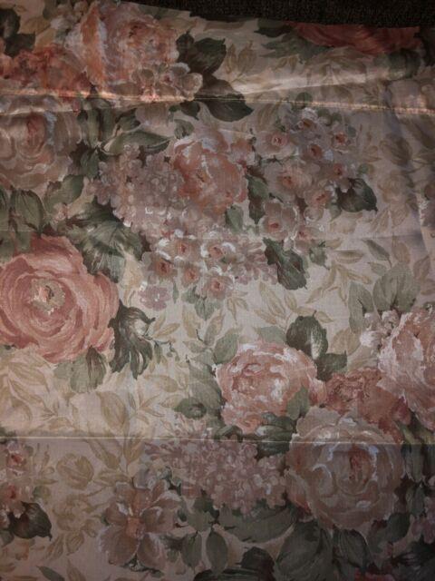 "Croscill Cotswold Sheer Curtain Panel 58"" x 86"" Rod Pocket 1.5"" Cottage Rose | eBay"