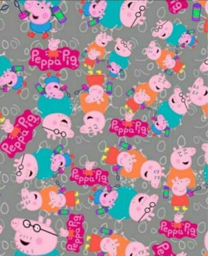 Peppa Wutz Sweat Meterware Peppa Pig Stoff Handmade nähen Kinderstoff