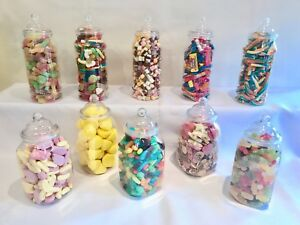 SLIGHT-SECONDS-10-Jars-2-Styles-Plastic-Sweet-Jars-Candy-Buffet-Wedding