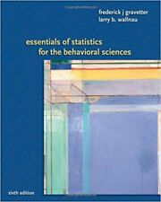 Available Titles Aplia: Essentials of Statistics for the Behavioral Science by Larry B. Wallnau and Frederick J. Gravetter (2007, Paperback)