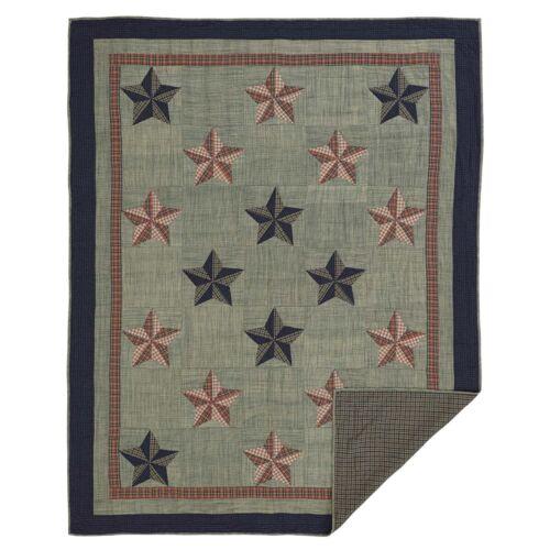 VHC Primitive Patchwork Quilt Bedspread King Queen Twin Cotton Reversible