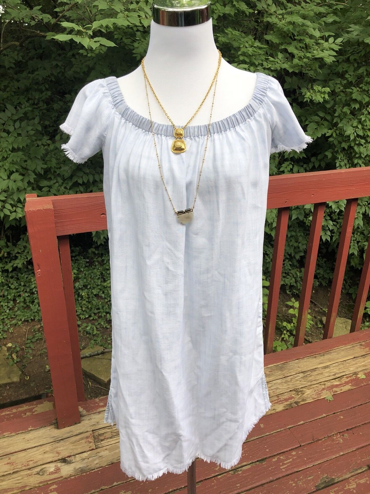 "New  Anthropologie ""Cloth&Stone"" size S Light Denim Wash bluee Summer Dress"