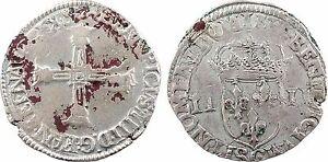 Henri-IV-quart-d-039-ecu-1607-ou-1609-St-Lo-61