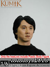 "1/6 KUMIK 13-41 Type Jackie Chan Man Male Head Sculpt F 12"" HT Figure Collection"