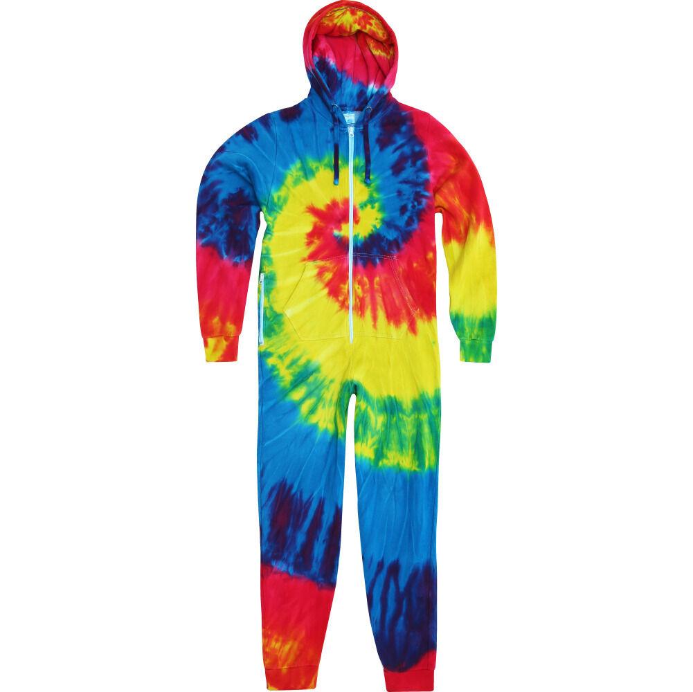 Mens colortone Cotton Rich Tie Dye Cotton Rich Spider All in One Suit