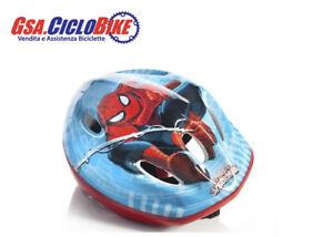 Dettagli Su Casco Bici Bicicletta Bambino Bimbo Personaggio Spiderman Colore Blu Spider Man