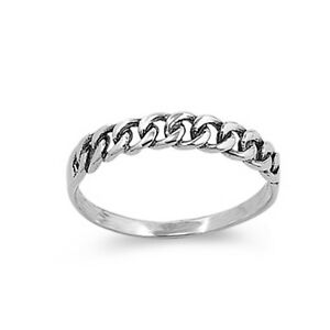 Sterling Silver Woman/'s Thin Small Shiny Ring Unique 925 Band 5mm Sizes 2-14