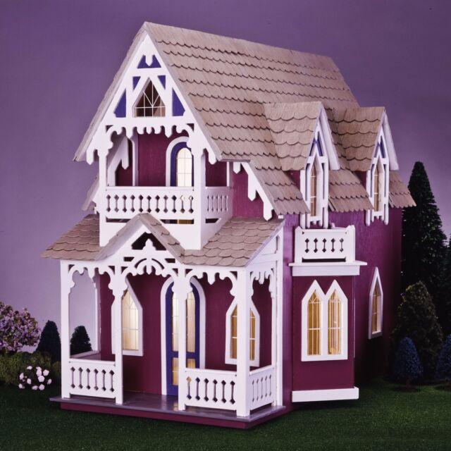 Astounding Large Wooden Doll House Vintage Victorian Kit Wood Dollhouse Diy Mansion Girls Download Free Architecture Designs Scobabritishbridgeorg