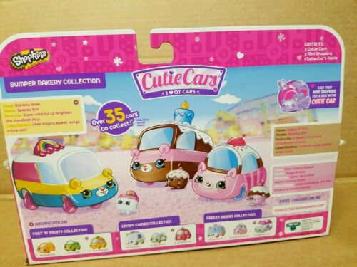 DIE CAST Details about  /SHOPKINS 3 CUTIE CARS Bumper Bakery Collection, lt. pink, pink, yel