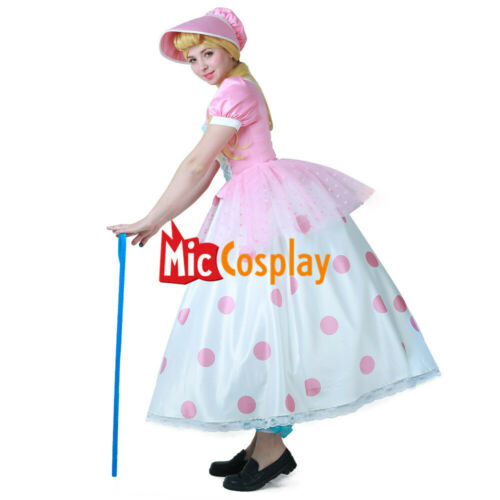 Little Bo Peep Cosplay Dress Costume with Hat