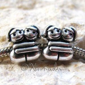 3PCs Puppy Dog Charm Beads For All Large Hole European Style Charm Bracelets