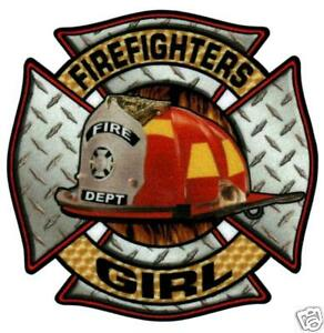 FIREFIGHTERS-GIRL-Highly-Reflective-DIAMOND-PLATE-FIRE-DEPT-DECAL