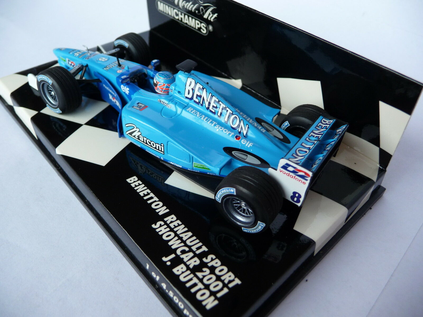 Minichamps 1 43 Benetton Renault Sport Showcar 2001 Button 010098