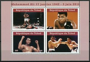 Chad-2019-MNH-Muhammad-Ali-4v-M-S-II-Famous-People-Boxing-Sports-Stamps