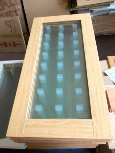 NEW Etched Glass Solid Door for Kitchen Cabinets-Bookcase-1000 x 495mm