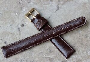 Made-in-Italy-fine-16mm-vintage-watch-band-stitched-amp-lightly-padding-1960s-70s
