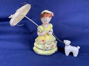 Vintage Ceramic Japan Little Bo Peep Nursery Rhyme 1950s Chain Lamb Parasol A408