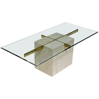 Vintage Modern Italian Artedi Marble And Glass Dining Room Table Ebay