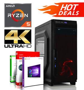 Gaming Komplett PC AMD Ryzen 5 2400G 256GB SSD 500GB HDD Vega 11 System Win 10