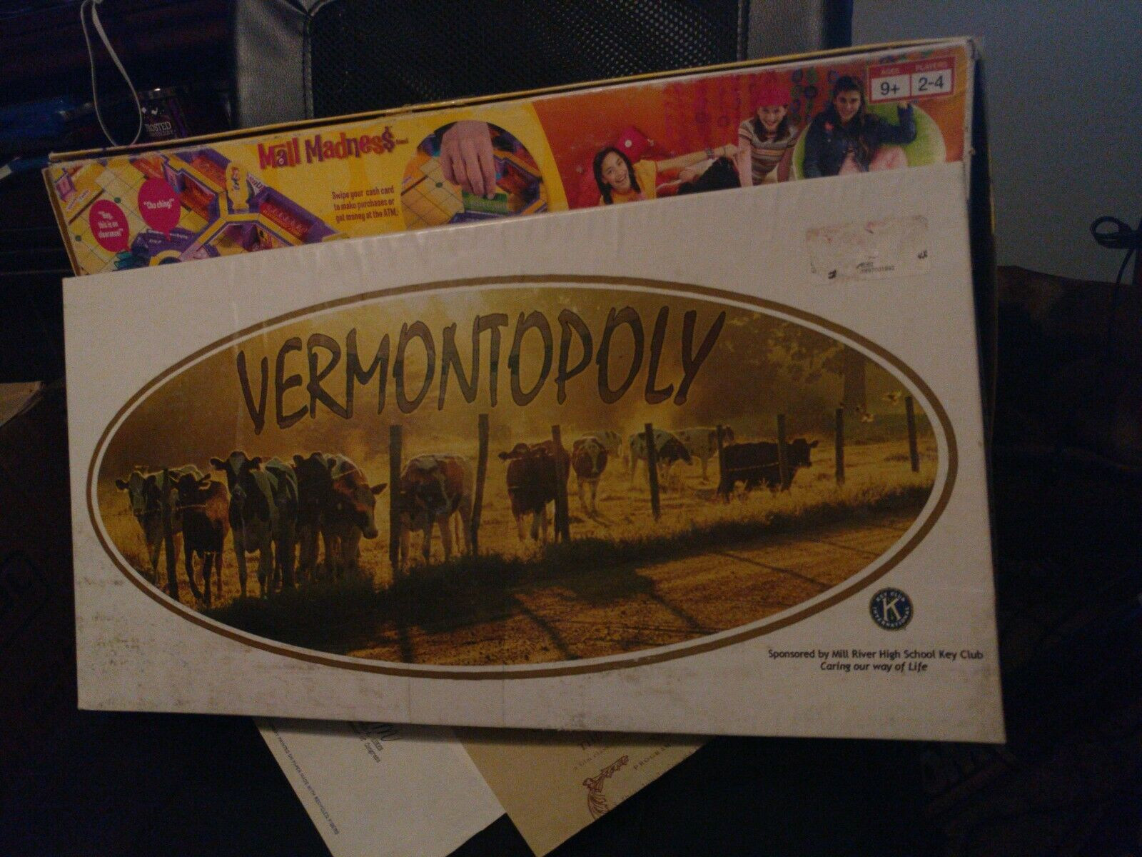 BRAND NEW VERMONTOPOLY Game - Monopoly - Board Game MILL RIVER HIGH SCHOOL KEY
