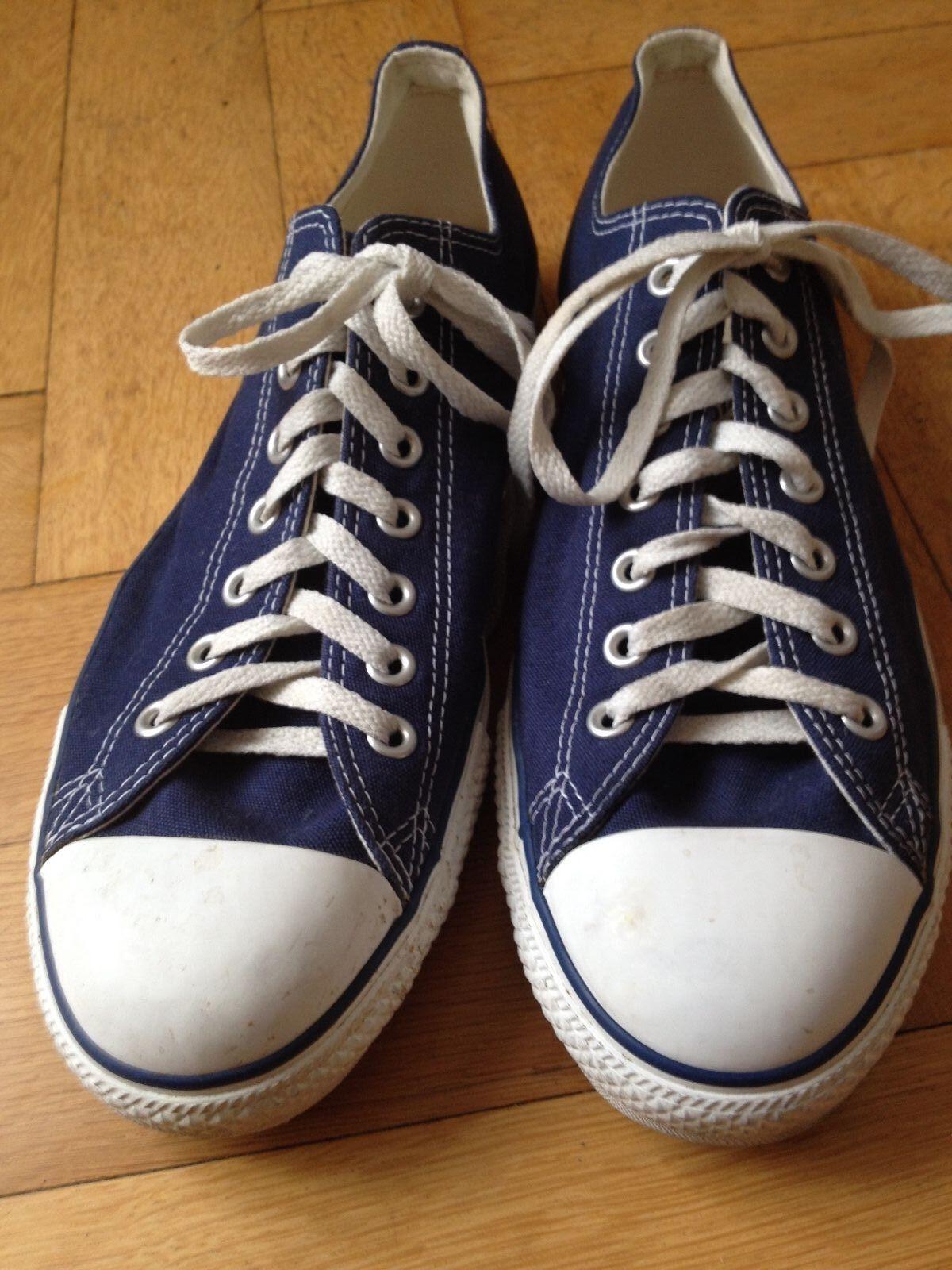 CONVERSE SNEAKER VINTAGE ATHLETIC PLIMSOLLS BLUE WHITE EUR 45 US 11.5 UK10.5