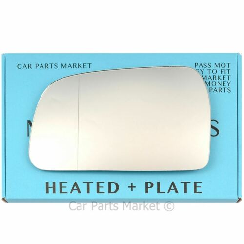 Left side Wide Angle Wing mirror glass for Hyundai Tucson 2004-09 heated + plate