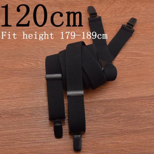 Men Plus Size Black Suspenders 4 Clip Suspender For Pants Male Adjustable Braces