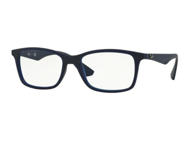 99a568d3ee Ray-Ban Rx7047 5450 54mm Matte TRASP Blue Eyeglasses for sale online ...