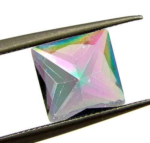 24941 CT 1.80 Topacio Místico Arco Iris natural 8 mm Princesa Corte Piedra Suelta
