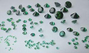 1 Cz Smaragd-grün 6,0 Mm Brillantschliff Cubic Zirko Synthetischer Edelstein.