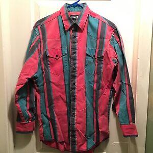 VTG-Men-039-s-Twenty-X-by-Wrangler-Striped-Dress-Shirt-16-1-2-33-34