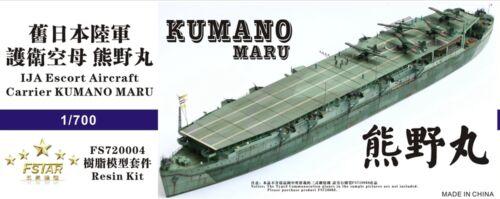 Five Star FS720004 1//700 IJN Escort Aircraft Carrier Kumano Maru Resin Kit