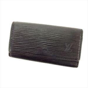 Louis-Vuitton-Key-holder-Epi-Black-Black-Woman-unisex-Authentic-Used-T6348