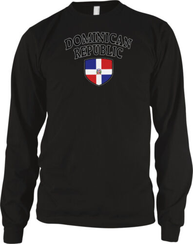 Dominican Republic Flag Crest National Soccer Football Pride Long Sleeve Thermal