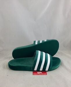 the best attitude 65c3e aafc7 Image is loading New-Mens-adidas-Originals-VELVET-ADILETTE-Green-White-