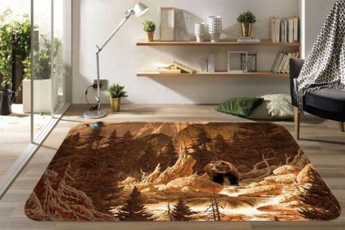 3D Mountain Bear 118 Non Slip Rug Mat Room Mat Quality Elegant Photo Carpet AU
