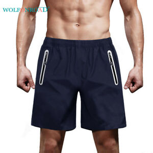 Quick-Dry-Reflective-Zipper-Pocket-Shorts-Mens-Fun-Run-Workout-Shorts-Half-Pants