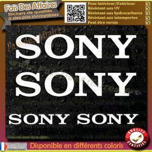 4-Stickers-Autocollant-Sony-sponsor-lot-planche-sticker-car-audio-sono-tuning