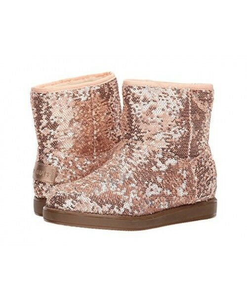 New G By Guess Women Asella Pink Sequins shoes Boots sz 6M